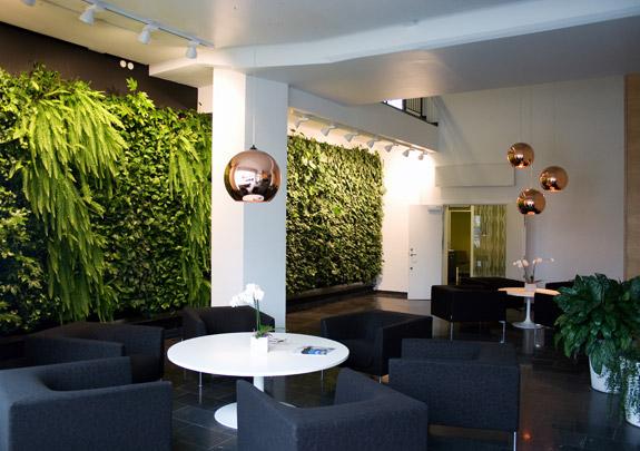 Дизайн интерьера с растениями